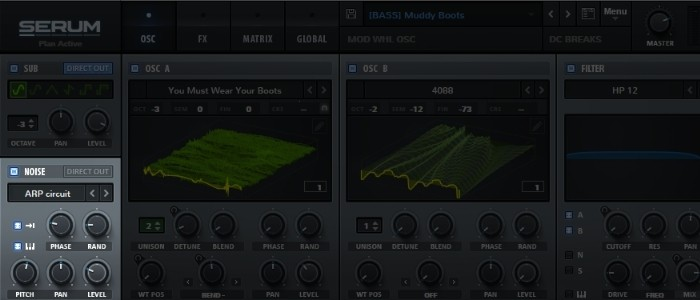 Serum noise oscillators