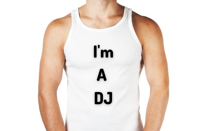 I'm A DJ White Vest