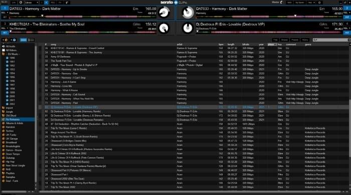 Serato DJ Pro - Library Display Mode