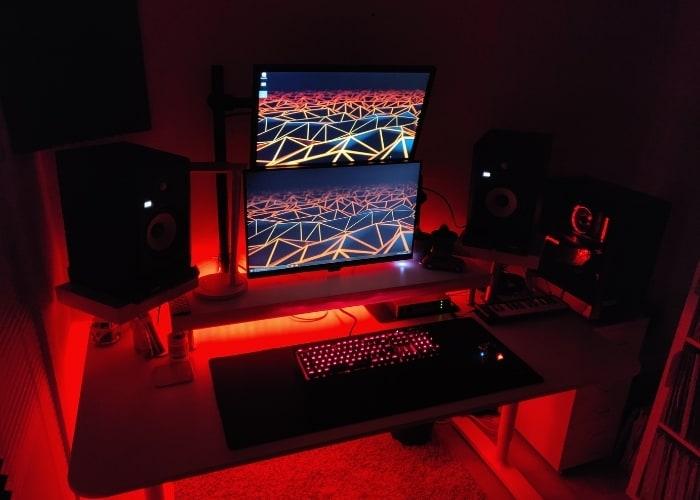 Home recording studio lighting