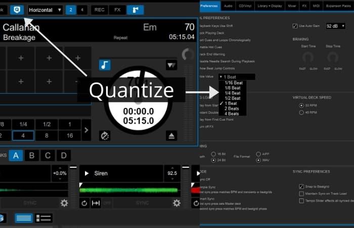 Serato DJ Pro - Quantize