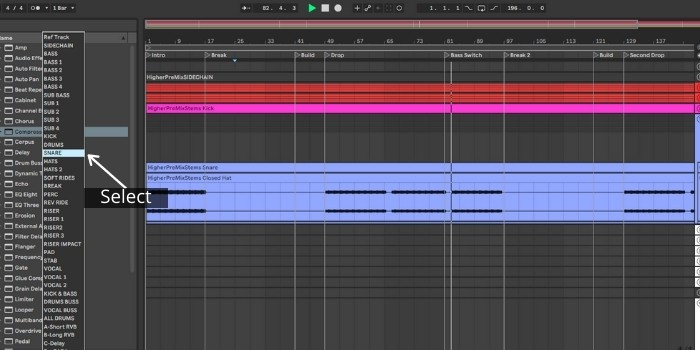 Set Sidechain Routing and Parameters