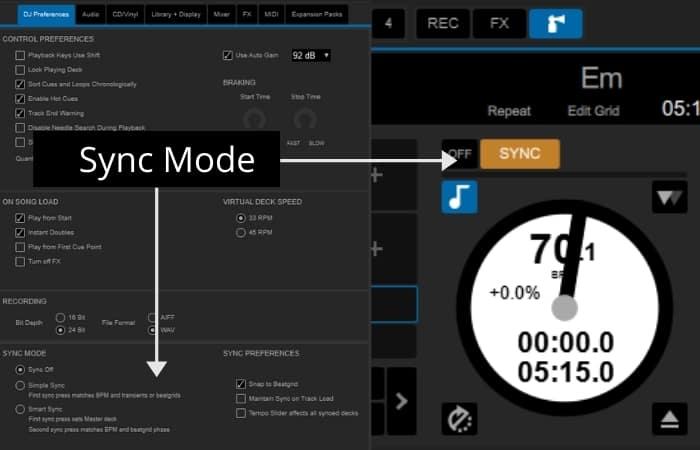 Serato DJ Pro - Sync Mode