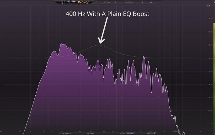 400 Hz with a plain EQ boost