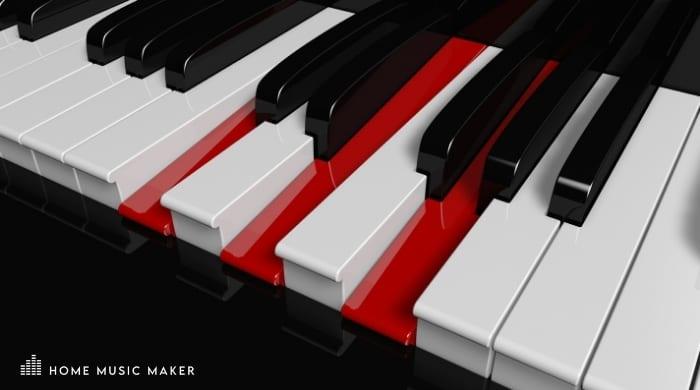 A Minor Piano Keys