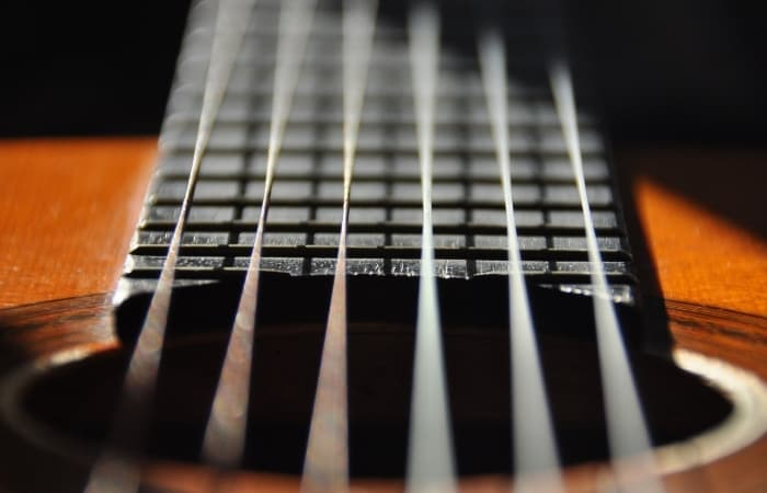 If you play a string instrument, this corresponds with the strings that produce a lower pitch. Do you notice that they are often thicker? That's what your vocal cords are doing in your chest voice.