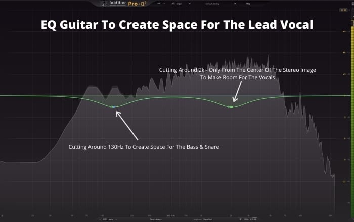 EQ Guitar To Create Space For The Lead Vocal