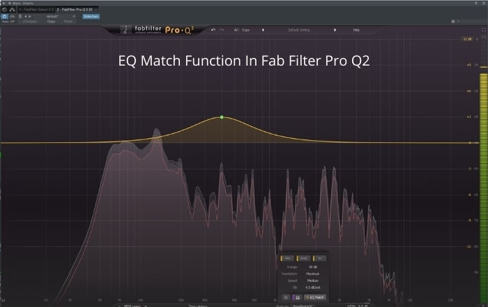 EQ match function in Fab Filter Pro Q2