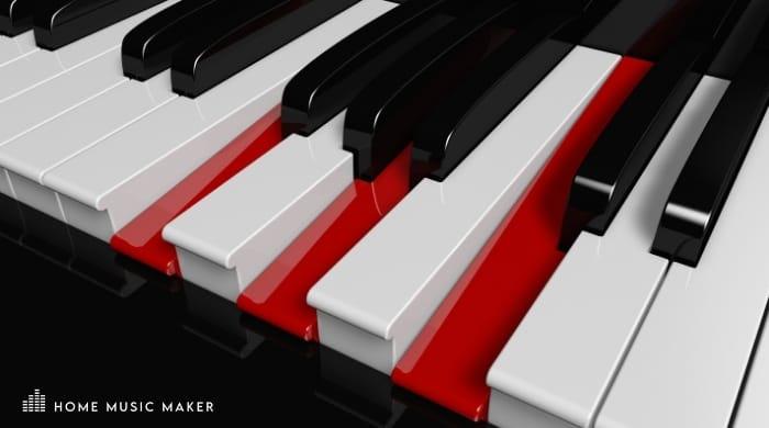 F Major Piano keys
