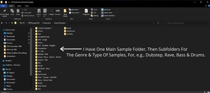 Create A Top-Level Folder Structure in Widows 10