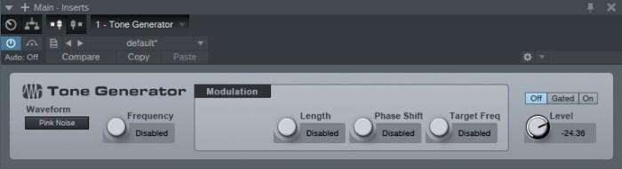 Tone Generator Plugin for Pink Noise