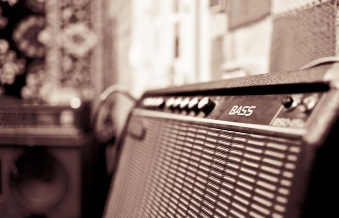 Bass Amplifier- In live situations, low-end from the bass amp can sound really unbalanced, especially if you are doing a club gig. Venues are usually not acoustically treated, and bass frequencies can get overwhelming at louder volumes.
