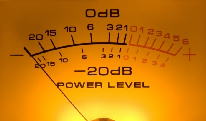 dB meter for mixing in mono