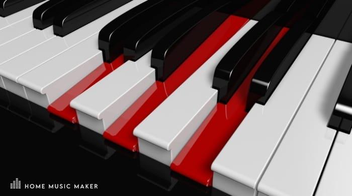 G Major Piano Keys