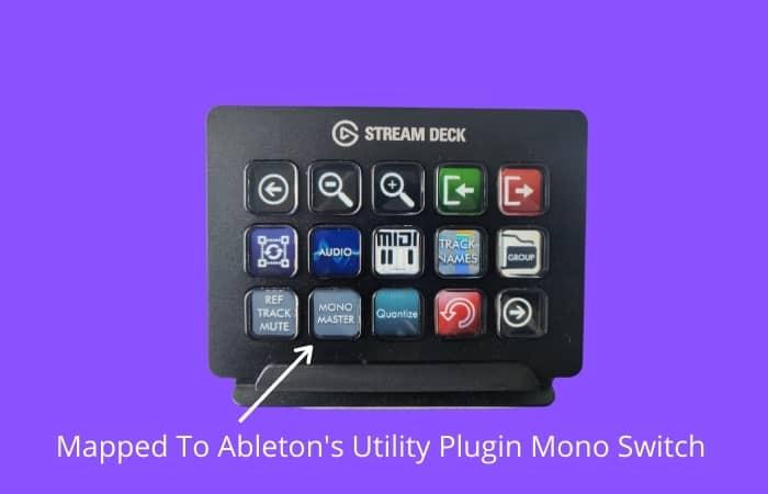 Elgato Stream Deck - Mapped To Ableton's Utility Plugin Mono Switch