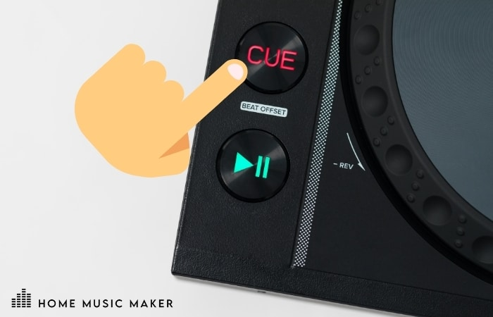 Getting Cued Up - Start the track or by tapping the Cue / Hot-Cue button.