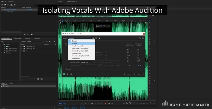 Isolating Vocals With Adobe Audition