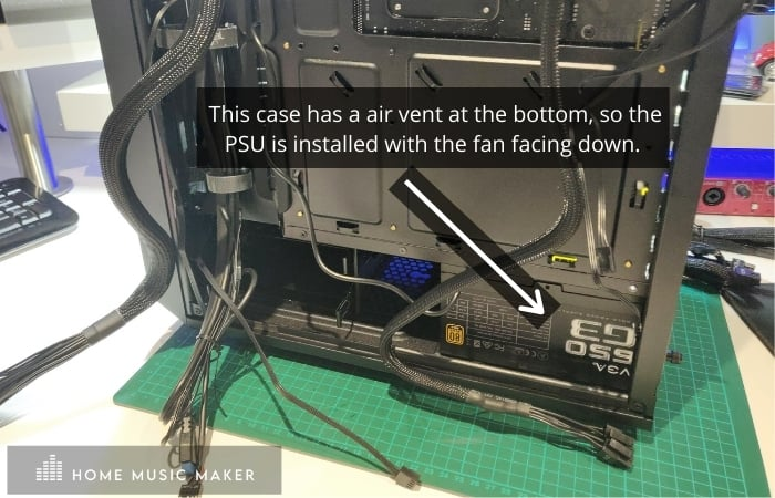 Installing The PSU into the case