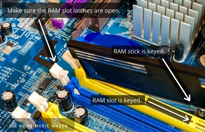 Installing RAM into Music Production PC build
