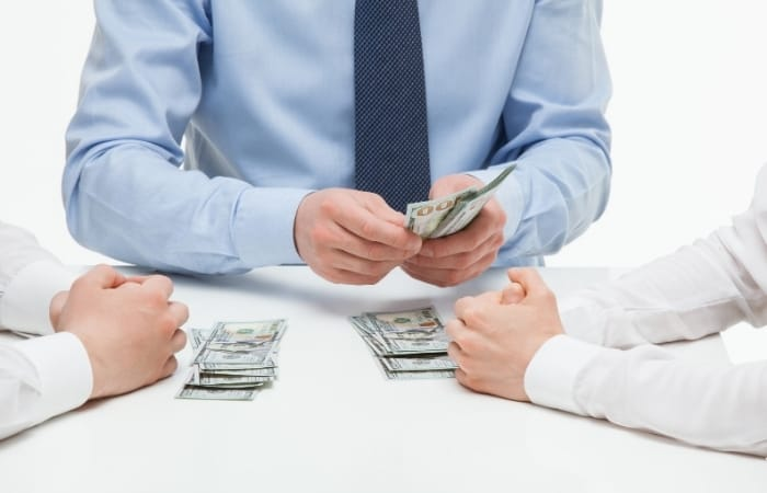Songwriting Split - A contract with their publisher determines a songwriter's split of the royalties.