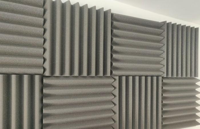 Acoustic Foam Tiles On My Studio Walls