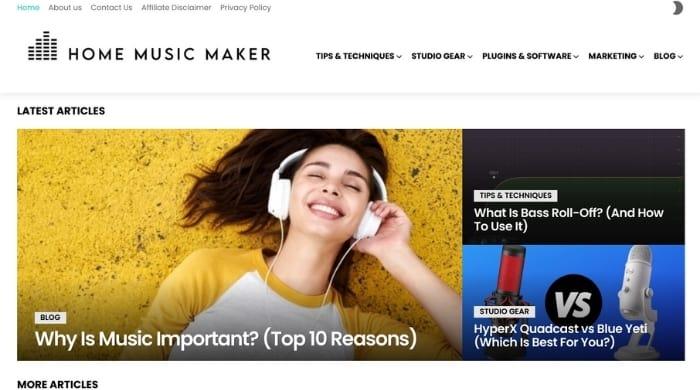Start a music blog to make money