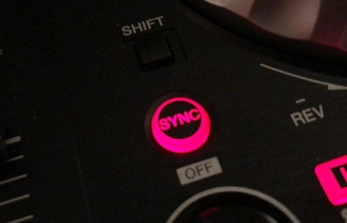 DJ Sync button - try not to become too reliant on them, especially the sync button