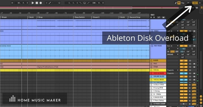 Ableton Disk Overload - Ableton's laggy behavior is because its unique design means there are higher demands on processor resources at all times - not just while playing back clips like with other programs.