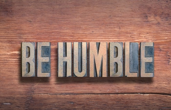 Be Humble But Confident