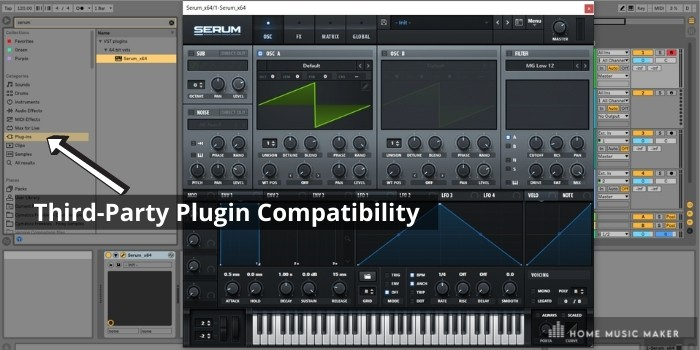 Plugin Compatibility - With Ableton Live, the whole world of sound creation is your oyster. Well, almost. Safe to say that most third-party plugins are compatible with Ableton. In fact, I would go so far as to say that Ableton Live is the most compatible DAW for plugins on the market.