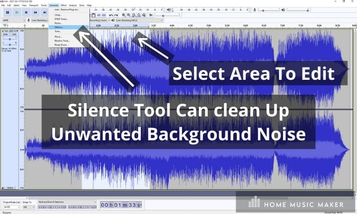 Audacity Silence tool - Silence Tool Can clean Up Unwanted Background Noise