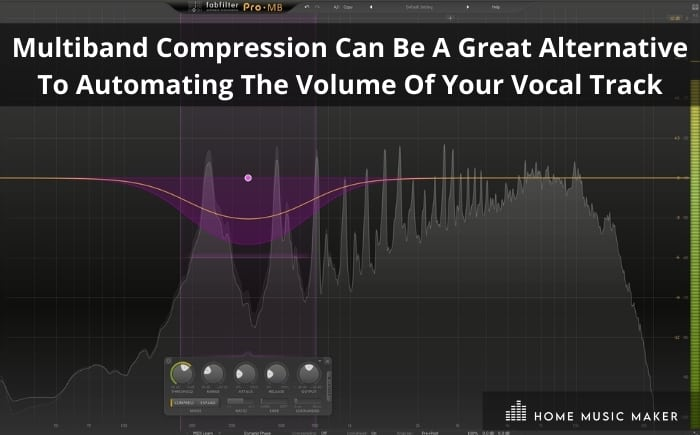 Multiband compression can be a great alternative to automating the volume of your vocal track