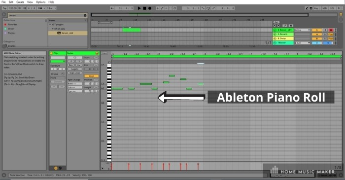 Ableton Piano Roll - One of the most common complaints about Ableton Live is that its piano roll is too small, congested, and too fiddly. It is easy to mistakenly add a note or move a note when using it.