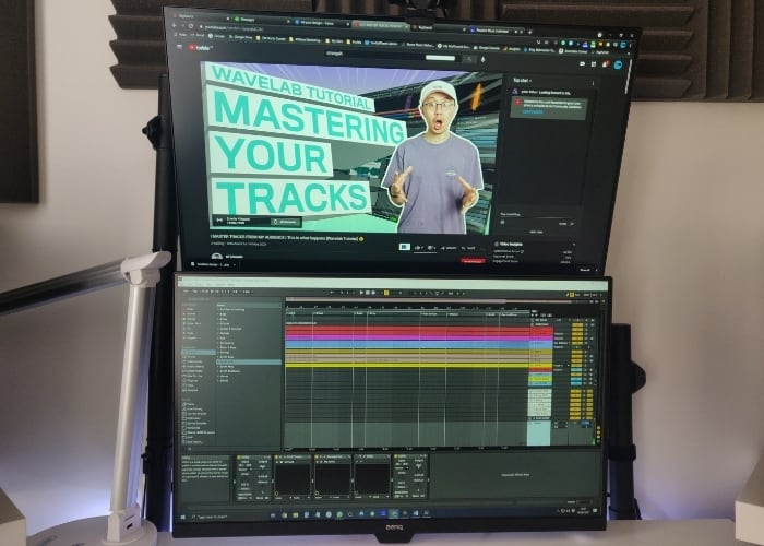 My Studio Dual Monitor Setup - A dual-screen setup can really help you watch tutorials and carry out the instructions simultaneously.