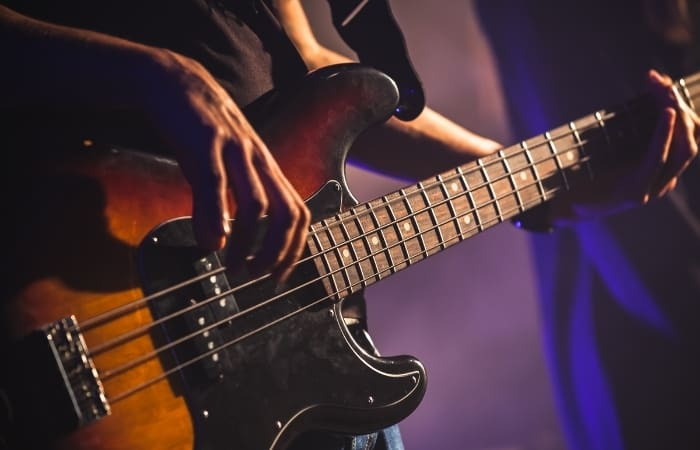 If the bass plays C, F, and G, and there isn't a chord that sounds a bit out of place, you can be sure that all of the chords are major. However, if a chord sounds a bit exotic, you've already figured out half the chord by knowing the bass note.