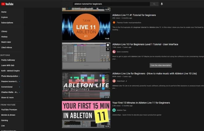 There Are Tons Of Ableton Tutorials Online - Most online guides on producing music tend to use Ableton, and the last time I checked, this still holds true. Many big-name electronic artists use Ableton, making sense for people teaching those styles to create an Ableton tutorial.