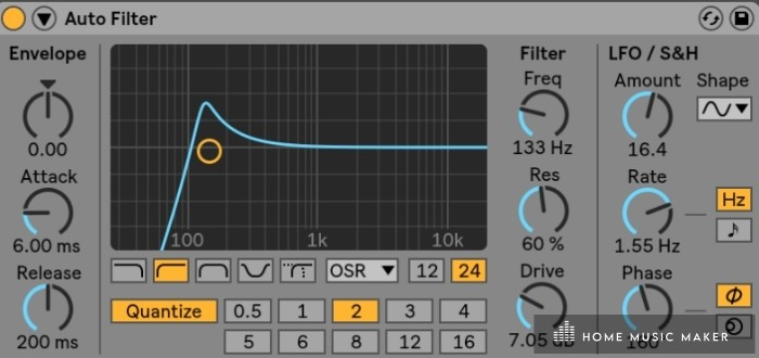 Ableton auto filter - Want to make that cool wooshing sound that comes before the drop? Use an auto-filter