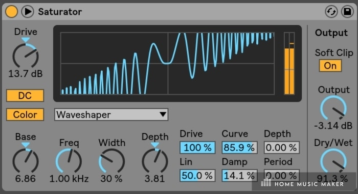 Ableton saturator - Want to add harmonics and warmth to a sound? Use the saturator.