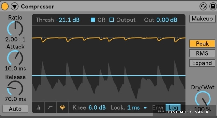Ableton Compressor - Want to make your track punchier or make space for the kick? Use the compressor.