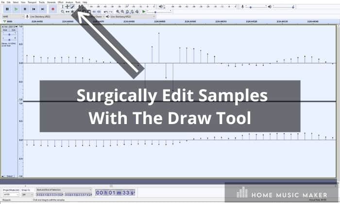 Surgically Edit Samples With The Draw Tool
