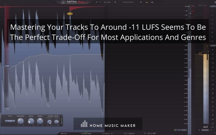 mastering your tracks to around -11 LUFS seems to be the perfect trade-off for most applications and genres