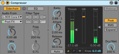 Ableton Live sidechain Compressor - On the other hand, sidechaining is when you lower the audio signal volume when another audio signal is happening.