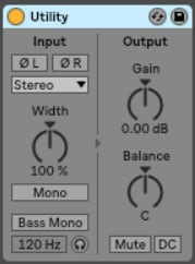 Step 1 - Turn the audio track down with Ableton Utility