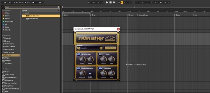 Camel Crusher Plugin - Ableton Live's erosion is a fun and simple effect to mess about with. How does it compare with other well-known bit crushers like Camel Crusher?