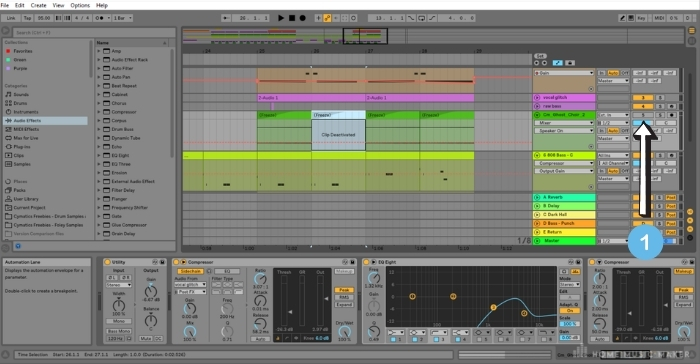 Mute track in Ableton