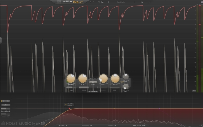 FabFilter ProC2 with sidechain filter