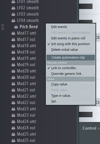 Create Automation Clip