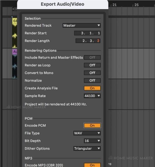 Export Parameters in Ableton