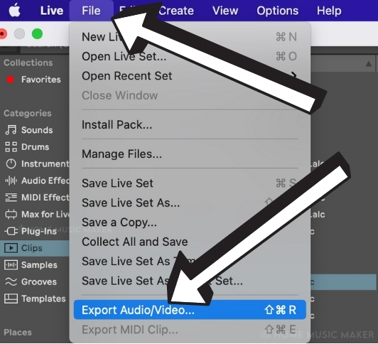 Exporting Audio in Ableton