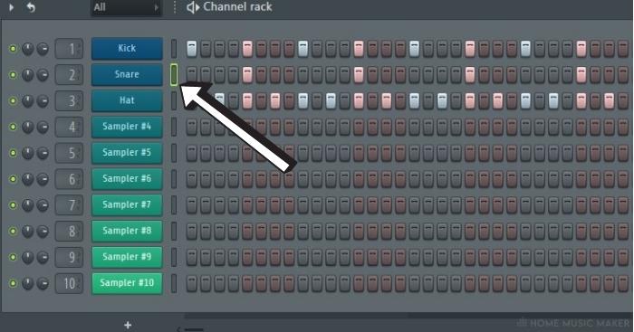 FL Studio Sequencer Selecter